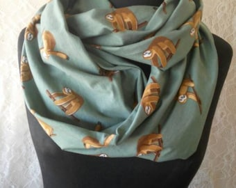 Sloth Gift Cute Sloth Scarf Sloths Infinity Scarf Sloth Birthday Gifts for Sister Christmas Gifts for Friend Women Accessories