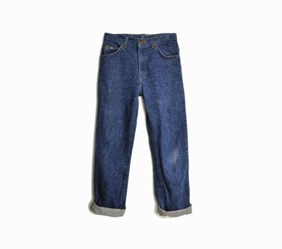 Vintage 80s LEE Boyfriend Jeans in Stonewashed Dark Navy - women's xs / 28 w x 29 l