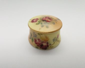 Miniature Antique 1911 Royal Worcester Spode Trinket Box