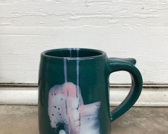 vintage hand painted mug