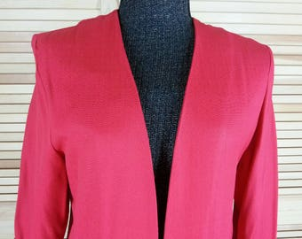 Vintage red tunic top jacket LA MILAN NY size 8 regular chest 42
