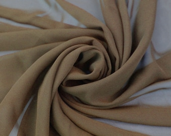 Toffee Solid Hi-Multi Chiffon Fabric by the Yard, Chiffon Fabric, Wedding Chiffon, Lightweight Chiffon Fabric - Style 500