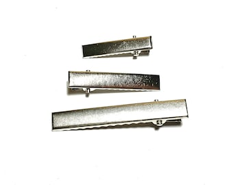 Silver Alligator Hair Clips | Hair Supplies and Crafts | DIY Hair Bow Supplies | Hair Supply | Hair Clips | Hair Accessories | Craft Supply