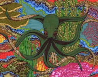 "octopus : GICLEE PRINT  11""X14"""