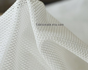 White Black Mesh Fabric For Bags Lining Designer Clothes Hollowed- 1/2 yard