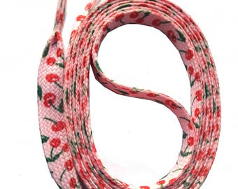 SNORS - lace - printed flax GRANDSON cherries of pink 140 cm, approx. 10 mm