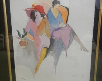 "Itzchak TARKAY ""Rendez-VOUS"" Plate III from ""Les Parisiens"" Serigraph"