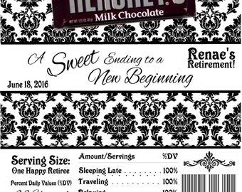 Unique Party Favors Candy Bar Wrappers Retirement Favors