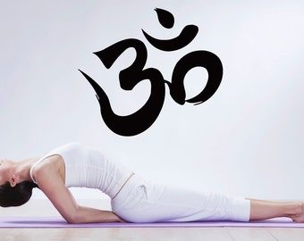 Wall Decal Vinyl Sticker Bedroom Nursery om symbol yoga namaste logo art bo3322