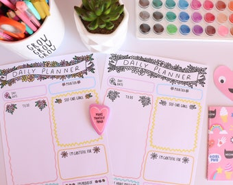 Positive Planner PDF - Print your own planner! A4 Planner - Self- Care Planner - INSTANT DOWNLOAD
