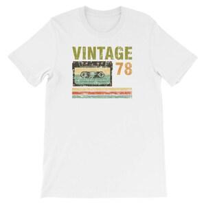 Vintage 78 Birthday T-Shirt - 40 Year Old Birthday Shirts, Birthday Gift for 40 year old (Large, Navy) (UNISEX T-Shirt)