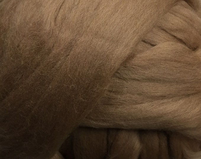 Mocha - Commercially Dyed Merino Wool Combed Top