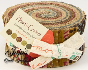 Heart's Content Jelly Roll by Laundry Basket Quilts for Moda Fabrics SKU 42181JR