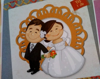 set of 9 pieces for cardmaking 3D creative cardmaking themed wedding, love