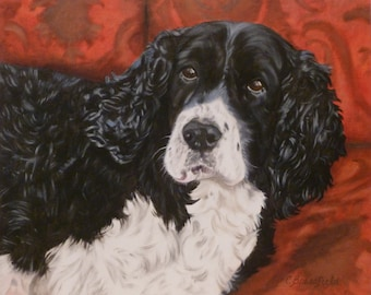 """Custom Pet Portrait 8""""x10"""", Oil on Gessobord from your photo by Cynthia Brassfield"""