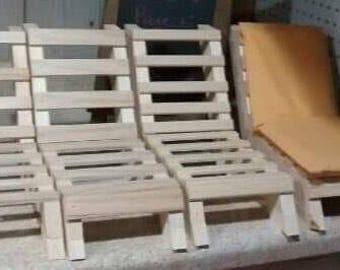 """Beach Chairs for 18"""" Dolls"""