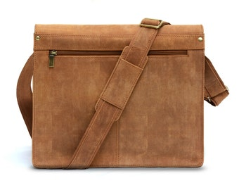 Douro Full Grain Leather Messenger Bag, 14 inch, Free Shipping