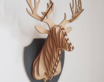 Lasercut Faux Deer Head