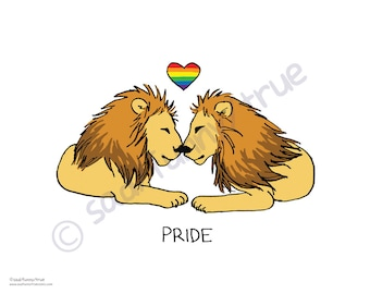 Pride Lions - Queer Pride Animal Series