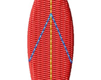 Surfboard Mini Machine Embroidery Design