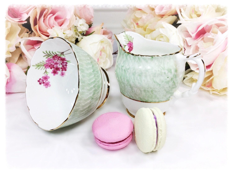 Dakin Pink Floral Gilt Bone China English Cake Plate, Fine Bone ...
