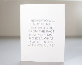 Funny Grad Card / Real Gold Foil