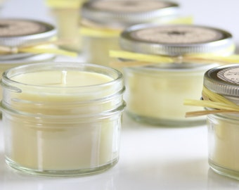Beeswax Candle with Coconut & Olive Oil in 4oz Mason Jar Container
