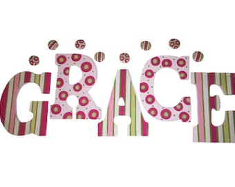 Hand Painted Wooden Wall Letters Girls Room