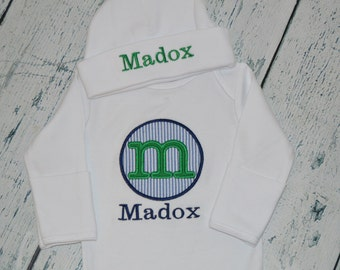 Personalized Infant Gown Baby Coming Home Layette