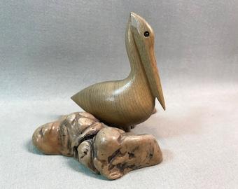 Carved Myrtlewood Pelican Oregon