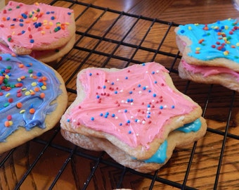 Deluxe Iced  Frosted Sugar Cookies