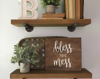 Bless This Mess - Wood Sign