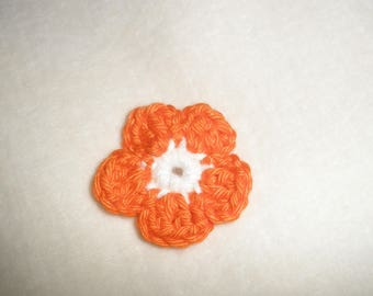 Crochet flowers applique five petals