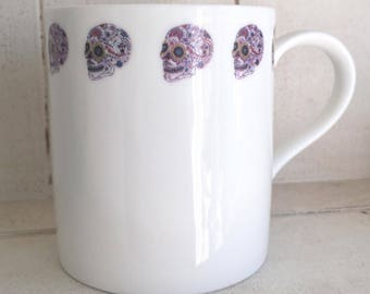 Day Of The Dead Skulls Ceramic Mug