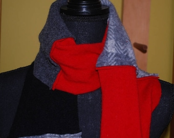Upcycled Cashmere and Wool Scarf