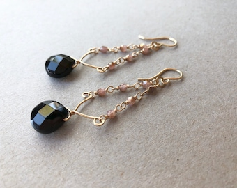 Noir & Rose Earrings