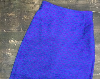 Vintage Seventies Purple & Blue Maxi Skirt