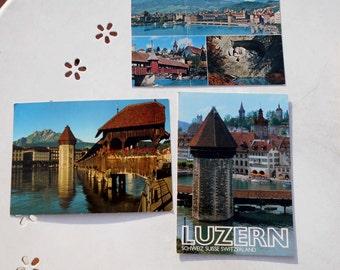 Lot three vintage postcards from Lucerne- Switzerland