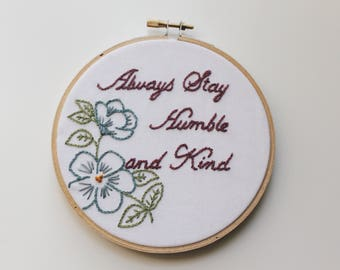 embroidery hoop art. Embroidered. Hand embroidery. Modern embroidery. Gifts for girls. Baby shower. Family wall art.