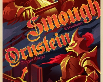 DRAGON SLAYER Video Game Poster