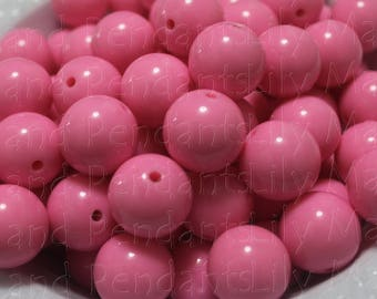 Cute Bubblegum pink 20mm 10 bead count