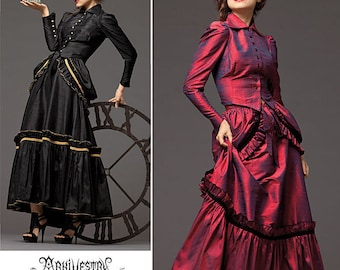 2207 Simplicity, Steampunk Costumes, Cosplay, Bustier, Arkivestry Costume Design, victorian gown, steampunk gown