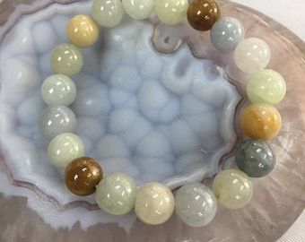 Natural Grade A Burma Jade Bracelets, Unique Gifts, 9mm beads