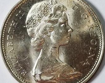 Canadian 1966 BU Silver Dollar