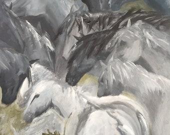 Horses in Grey