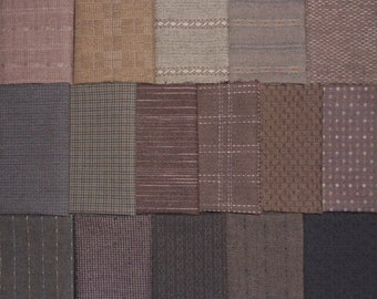 Japanese Yarn Dyed Fabrics - 16 dark brown fat eighths