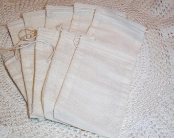 Soap Making Muslin Drawstring Bags 4 x 6 (25) storage bag soap bag rubber stamping sachet bag