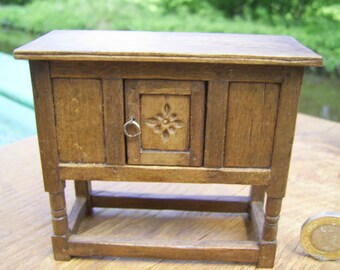 1/12th scale miniature medieval or tudor livery/court cupboard or dresser