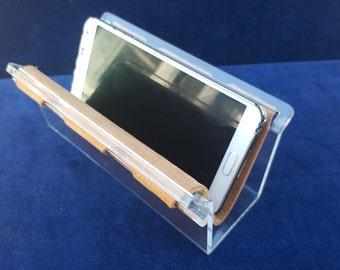 vintage lucite and suede sling holder eyeglasses letters or phone