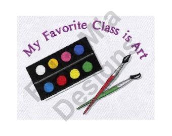 Art - Machine Embroidery Design, School, My Favorite Class is Art, Art Class